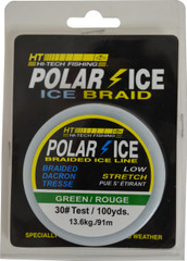 BRAIDED DACRON ICE LINE - GREEN 30#