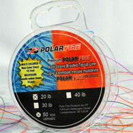 PREMIUM MULTI-COLORED 20# TEST BRAIDED lINE - NEW COLOR EVERY 10 FEET - 50 YDS/SPOOL