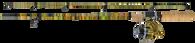 "JIMMY HOUSTON FISH HUNTER COMBO SERIES 6'6"" 2 PC MED W/FHPD-204A 4B IAR REEL"