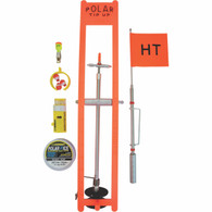 POLAR TIP UP KIT 200' SPOOL ORANGE - LIGHTED, CLAM PACKED