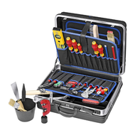 Knipex Tool case stocked for sanitation- heating-air conditioning 002105HKS