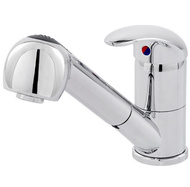 "Single lever sink mixer ""Cento"" chrome- with extractable shower head"