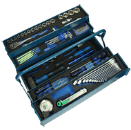 Heytec Heyco mounting tool case stocked 58 pieces blue sheet steel