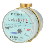 "Single jet dry running cold water meter ETK Qn 2.5m (1""- 130mm)"