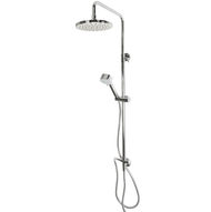Shower system Sina chrome-plated with overhead shower, hand shower