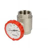 "Simplex ball valve ¾"" IT with thermometer red"