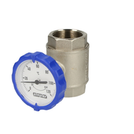 "Simplex Ball valve 1¼"" IT with thermometer blue"