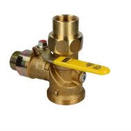Viega Angle ball valve, gas, 1 with heat-activated safety valve