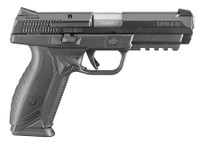 RUG Ruger American Pistol .45 ACP 4.5 Inch Stainless Steel Barrel Black Nitride Slide Novak 3-Dot Sights Accessory Rail Black Grips 10 Round Ruger American Pistol