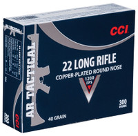 CCI AR Tactical .22 Long Rifle 40 Grain Copper Plated Round Nose	 AR Tactical Rimfire