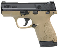 S&W M&P Shield 9mm 3.1 Inch Barrel Flat Dark Earth Finish Polymer Frame One 7 Round and One 8 Round Magazine