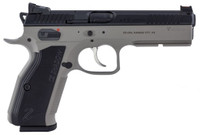 CZ 91255 CZ 75 Shadow 2 Single/Double 9mm 4.8 17+1 FOF Black Aluminum Grip Gray Nitride Frame Black Slide*