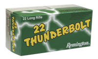 Remington Ammunition TB22B Thunderbolt 22 LR Round Nose 40 GR 500 RD BOXES- 5,000 RDS -FREE SHIPPING