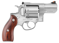 Ruger 5033 Redhawk Stainless Single/Double 357 Magnum 2.75 8 Hardwood Stainless*