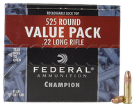 Federal 745 Champion 22 LR Copper-Plated Hollow Point 36 GR 5,250 ROUNDS-FREE SHIPPING! (525Box/10Case)