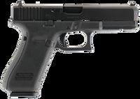 .Glock PA1750203 G17 Gen 5 Double 9mm Luger 4.48 17+1 Fixed Black Interchangeable Backstrap Grip Black