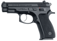 CZ 01194 CZ 75 Compact PCR SA/DA 9mm 3.7 10+1 Black Rubber Grip Blk*