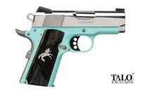 """C07002 Colt O7002D-REB 9mm Defender- 3"""" Barrel, Robins Egg Blue, Stainless Steel POLISHED SLIDE 1 of 300, 098289111708, O7002D-REB"""