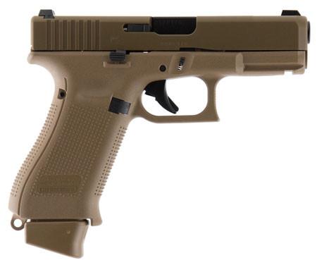 GLK Glock 19X 9mm 4 Inch Barrel Glock Night Sights Coyote Tan Finish