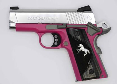 COLT DEFENDER 9MM 3 RASPBERRY SS 1 OF 300, O7002D-PK, 098289111760