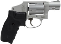 """Smith & Wesson 163811 642 Airweight Double 38 Special 1.875"""" 5 rd Black Synthetic Crimson Trace Lasergrip Grip Stainless"""