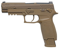 "Sig Sauer M17COMMEMORA P320 M17 Commemorative 9mm Luger Double 4.7"" 17+1/21+1 Coyote Polymer Grip Coyote Stainless Steel PVD Slide"
