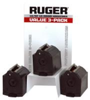 RUGER MAGAZINE 10/22 .22LR 10-ROUNDS BLACK PLASTIC 3PACK