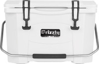 GRIZZLY COOLERS GRIZZLY G20 WHITE/WHITE 20 QUART COOLER