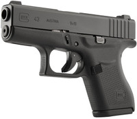 GLOCK 43 9MM LUGER FIXED NIGHT SIGHTS 6-SHOT BLACK 4460