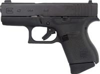 GLOCK 43 9MM LUGER FRONT NIGHT SIGHT 6-SHOT BLACK (TALO) 1141