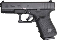 GLOCK 19 9MM GEN4 FIXED SIGHTS 15-SHOT BLACK 5097
