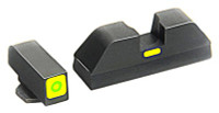 AMERIGLO CAP SIGHT SET GREEN/GREEN GLOCK 17 & 22+