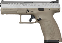 CZ P-10 COMPACT 9MM NS 15-RD FDE WHITE NITRIDE FINISH 237