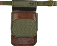 BERETTA BI SIGNATURE SHELL/ HULL POUCH W/BELT CANVAS GREEN