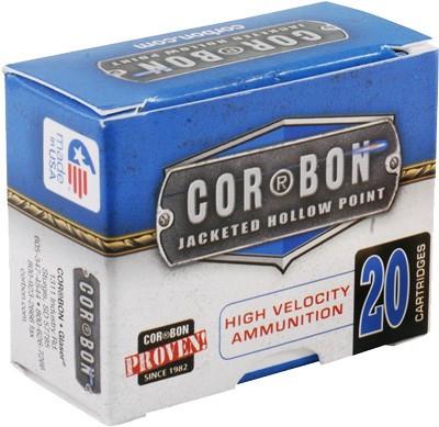 CORBON AMMO 9MM LUGER+P 125GR  JHP 20-PACK