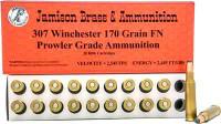 JAMISON AMMO .307 WINCHESTER 170GR. JFP 20-PK