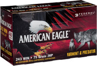 FED AMMO AE .243 WIN. 75GR. JACKETED HOLLOW POINT 40-PACK