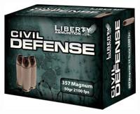 LIBERTY AMMO CIVIL DEFENSE .357MAG 50GR. HP 20-PACK