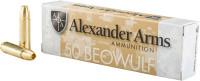 ALEXANDER AMMO .50 BEOWULF 385GR. BRASS HP 20-PACK<