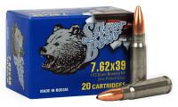 SILVER BEAR 7.62X39 123GR JHP ZINC-PLATED 500 ROUND CASE