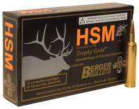 HSM AMMO TG 6.5X55 SWEDISH 130 GR. BERGER MATCH HUNT VLD 20PK