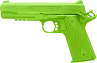 COLD STEEL 1911 RUBBER TRAING PISTOL COCKED AND LOCKED GREEN