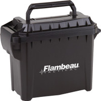 FLAMBEAU MINI TACTICAL AMMO CAN 6.75X3.375X5.5 W/LOGO!
