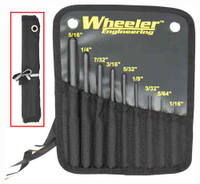 WHEELER 9-PC ROLL PIN PUNCH SET W/STORAGE POUCH