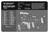 TEKMAT ARMORERS BENCH MAT 11x17 SIG SAUER 229 PISTOL