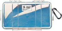 PELICAN 1060 MICRO CASE CLEAR W/ BLUE LINER ID 8.3X4.3X2.3