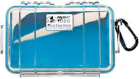 PELICAN 1050 MICRO CASE CLEAR W/ BLUE LINER ID 6.3X3.7X2.8