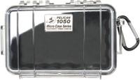 PELICAN 1050 MICRO CASE CLEAR W/ BLACK LINER ID 6.3X3.7X2.8