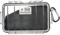 PELICAN 1040 MICRO CASE CLEAR W/ BLACK LINER ID 6.5X3.9X1.8