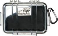 PELICAN 1020 MICRO CASE CLEAR W/ BLACK LINER ID 5.3X3.5X1.7